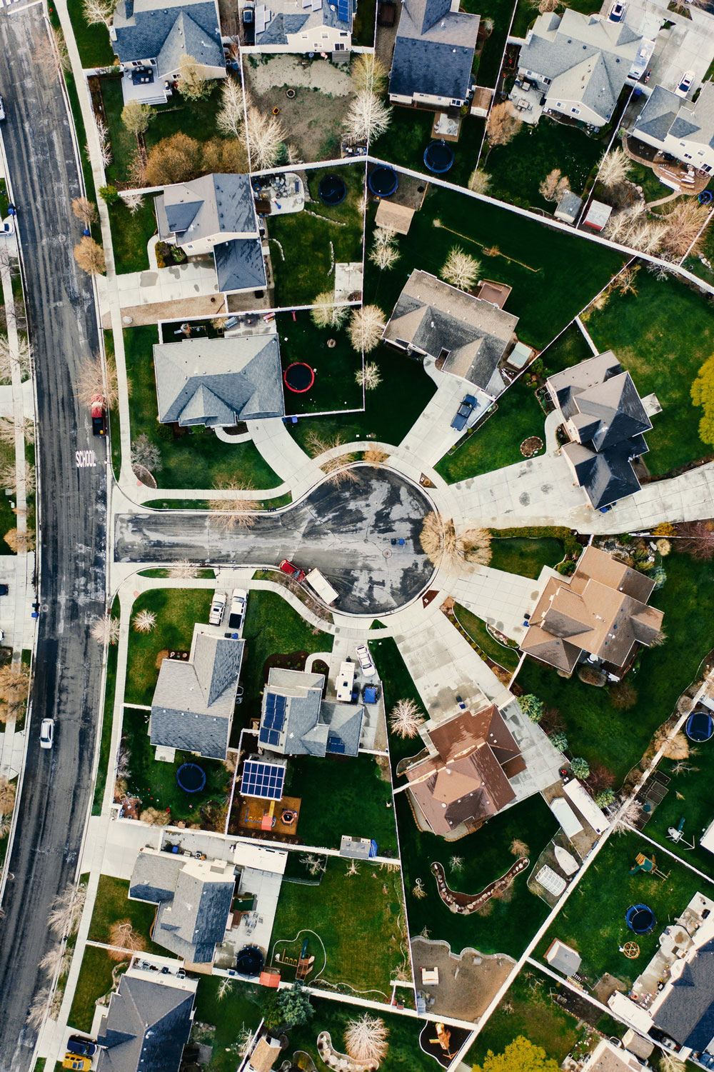 Arial View of Suburban Neighborhood
